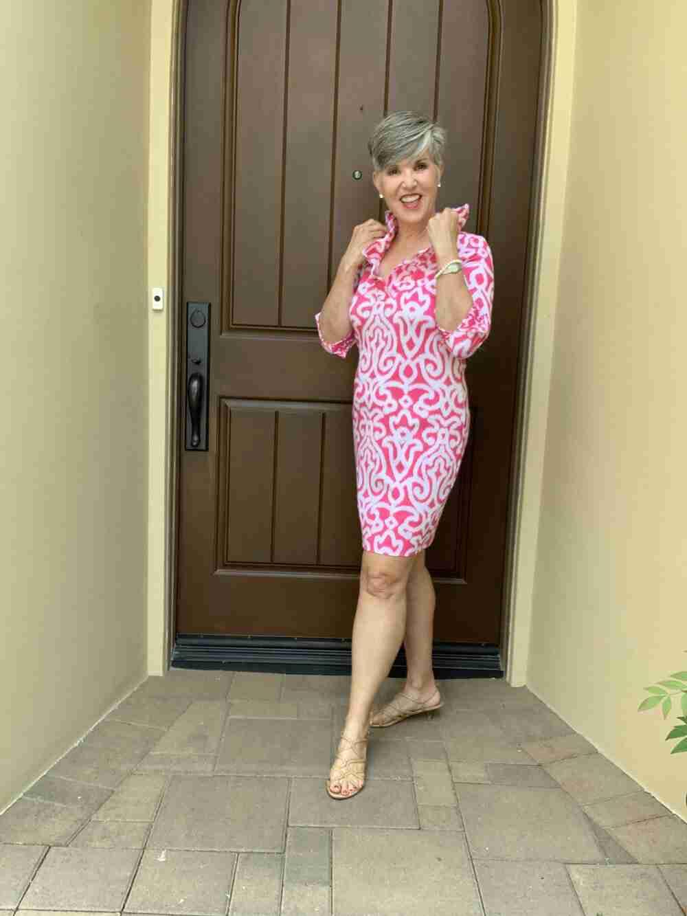 ruffle neck gretchen scott dress
