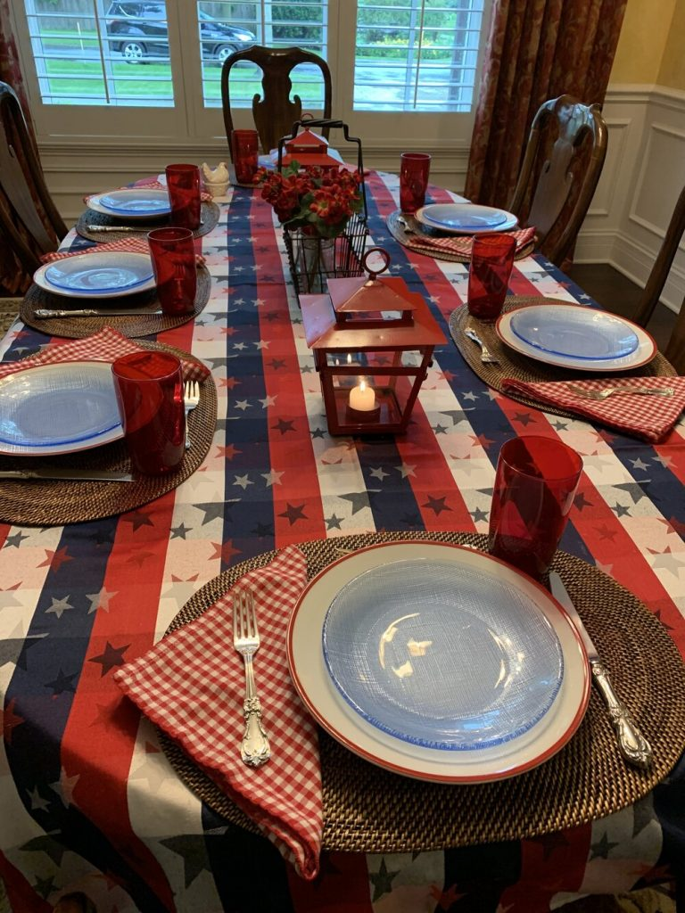 Fouth of July tablescape