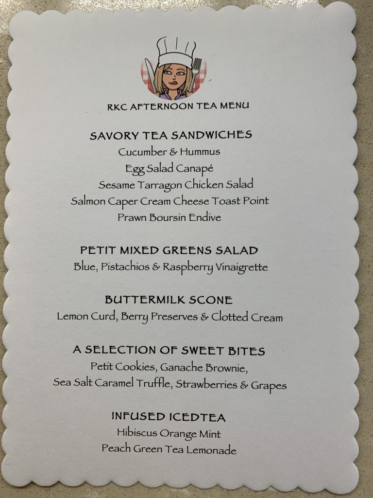 a pre-printed menu for my french tea party