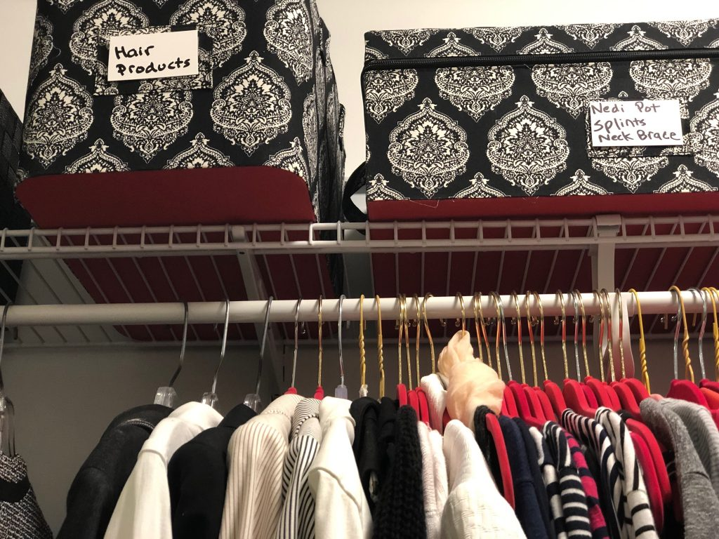 Messy closet clean-up