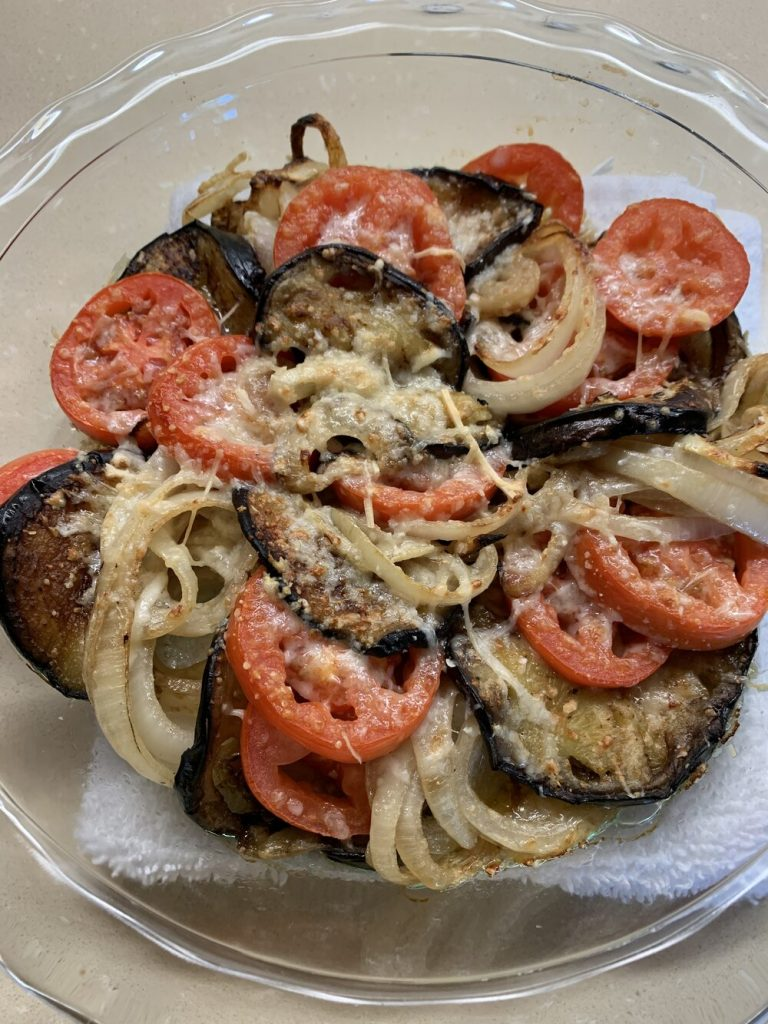 Roasted Eggplant Onion and Tomato Tian
