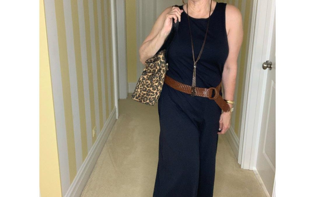 How to Style a Black Jumpsuit Wide Leg
